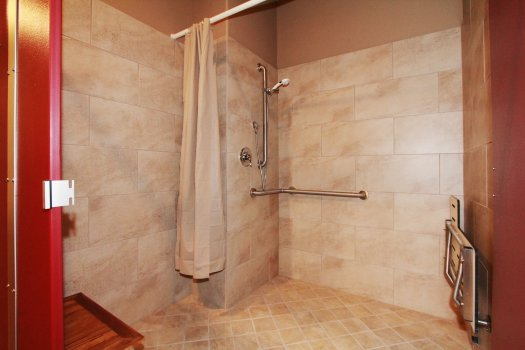 Handicapped Accessible Showers are Available